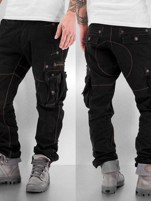 Alpha Industries Pantalone Cargo Tough nero
