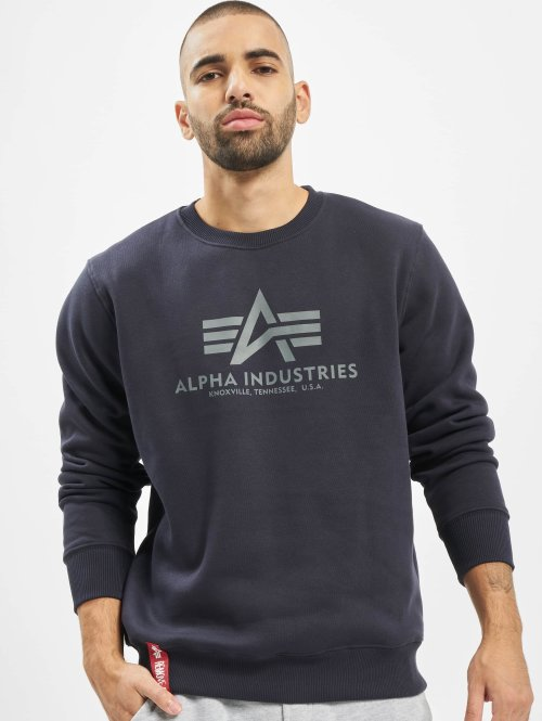 Alpha Industries Pullover Basic blau