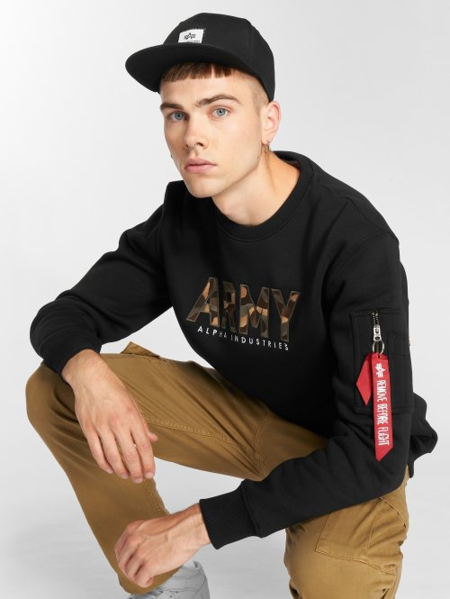 Alpha Industries Pulóvre Army Camo èierna