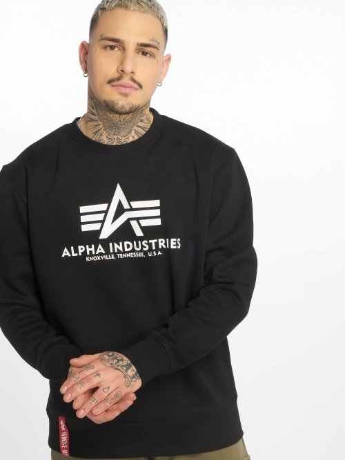 Alpha Industries Swetry Basic czarny