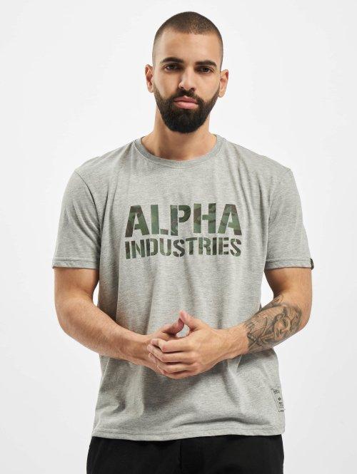 Alpha Industries T-Shirt Camo Print grau
