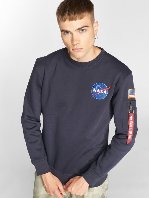Alpha Industries Trøjer Space Shuttle blå