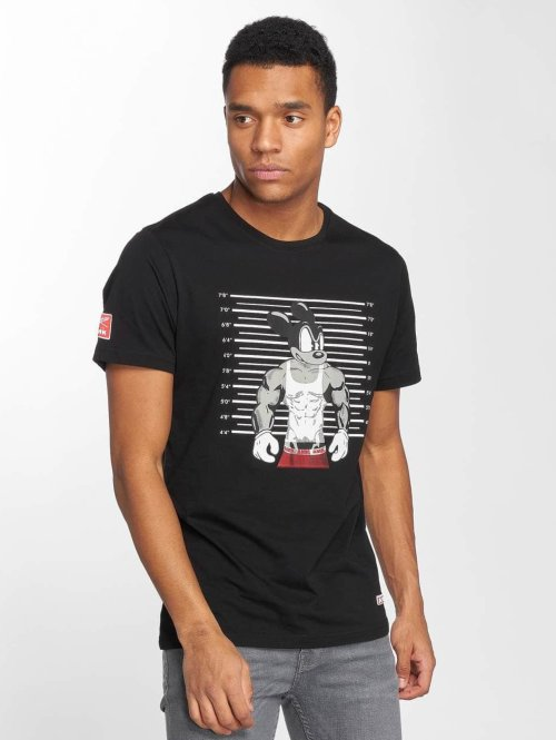 AMK t-shirt Muscle Mouse with Measure zwart