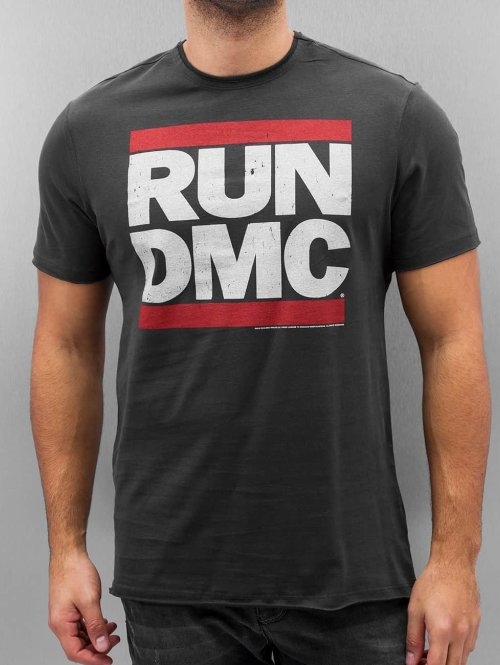 Amplified t-shirt RUN DMC Logo grijs