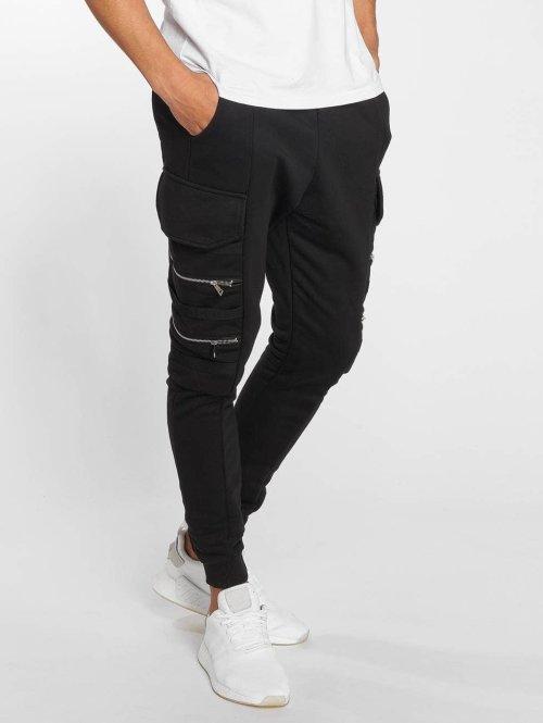 Bangastic Jogginghose Zipper schwarz