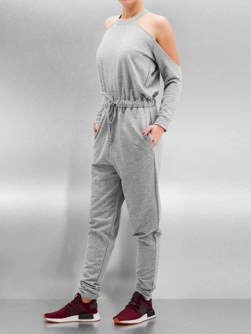 Bangastic Jumpsuit Backless grau