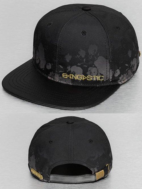 Bangastic Snapback Cap Flower schwarz