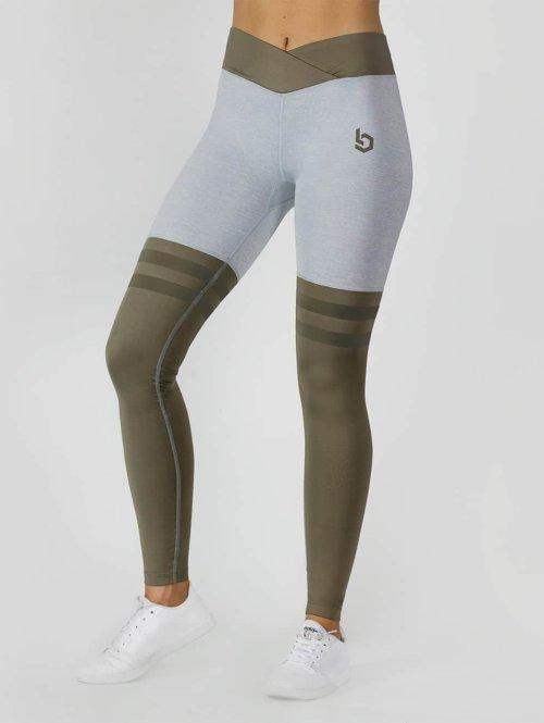 Beyond Limits Leggingsit/Treggingsit Overknee Stripe harmaa