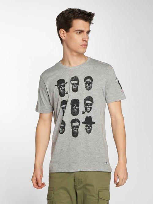 Brave Soul T-paidat Pogo harmaa