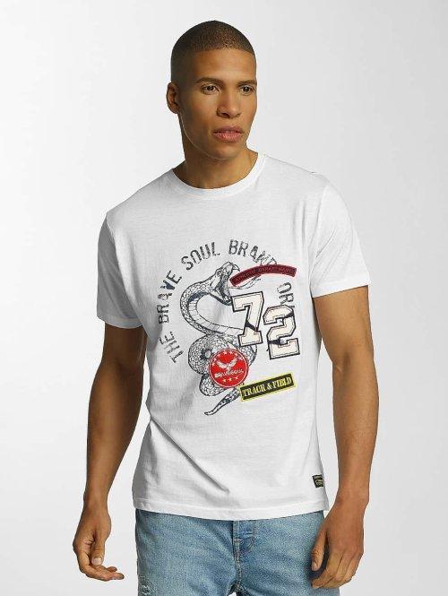 Brave Soul T-Shirt Crew Neck Set blanc