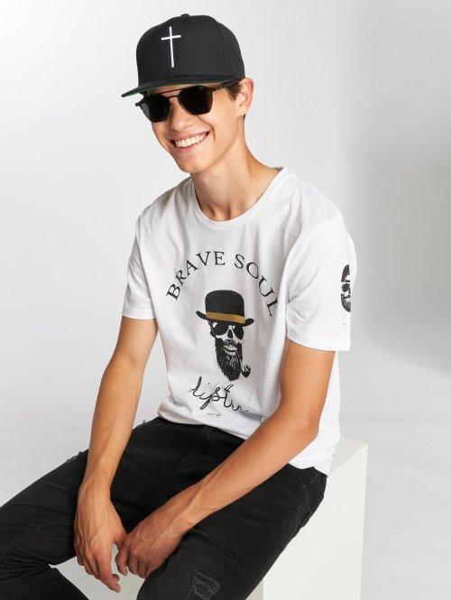 Brave Soul T-shirts Midas hvid