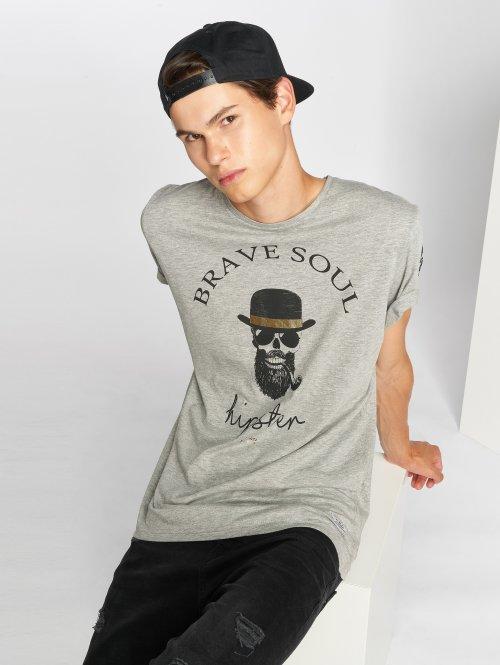 Brave Soul Tričká Midas šedá