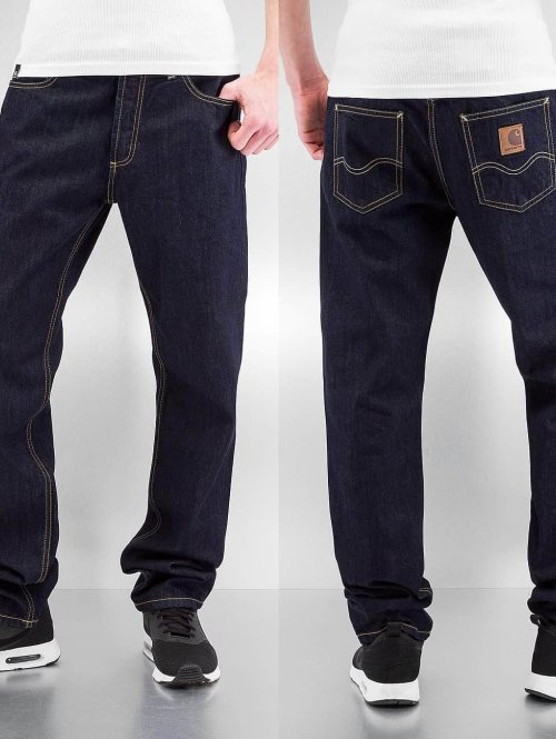 Carhartt WIP Straight Fit Jeans Hanford Texas blau