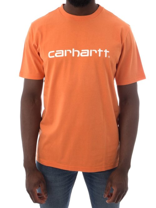 Carhartt WIP T-Shirt SS Script orange