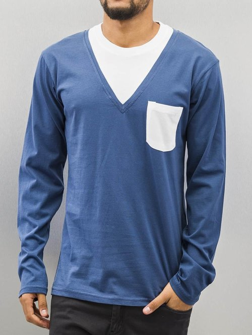 Cazzy Clang T-Shirt manches longues Breast Pocket bleu
