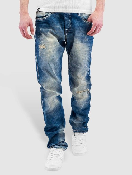 Cipo & Baxx Straight Fit Jeans Avenio blau