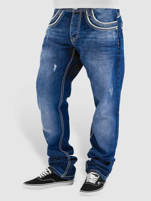 Cipo & Baxx Straight fit jeans Simba blauw