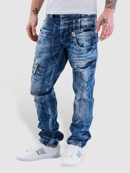 Cipo & Baxx Straight fit jeans Fred blauw