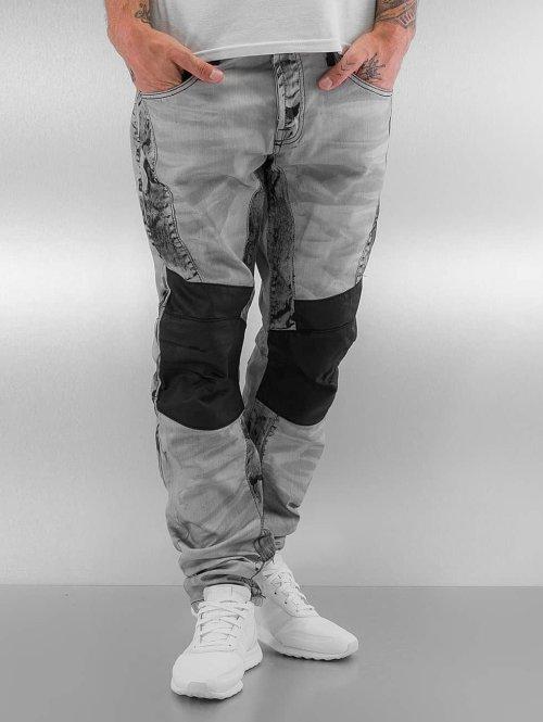 Cipo & Baxx Straight fit jeans Kobbi grijs