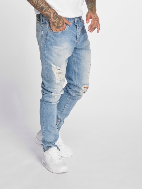 Criminal Damage Skinny Jeans Uzi blau