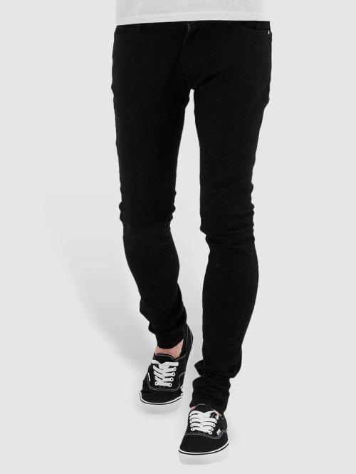 Criminal Damage Skinny Jeans Super schwarz