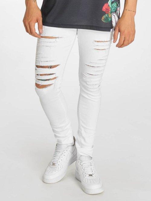 Criminal Damage Skinny Jeans Camden weiß