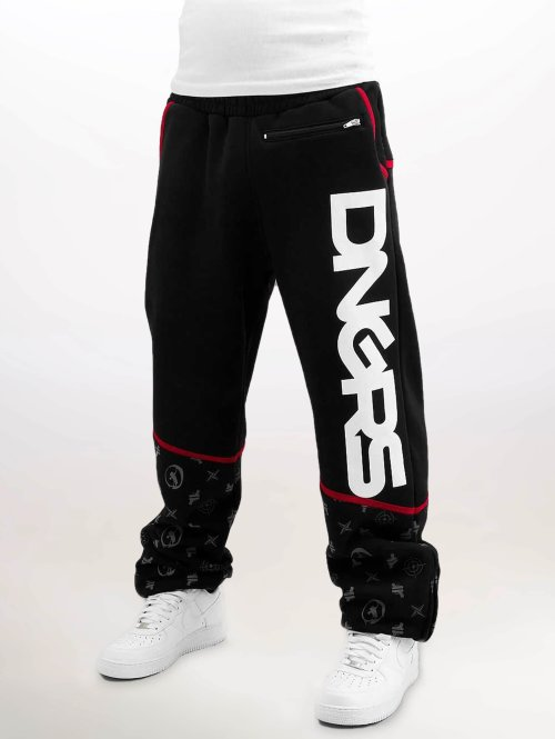 Dangerous DNGRS joggingbroek Crosshair Baggyfit Sweat Pants zwart