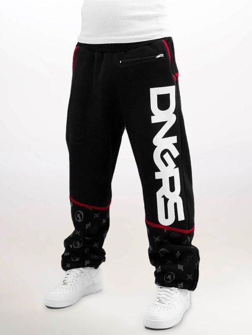 Dangerous DNGRS Joggingbukser Crosshair Baggyfit Sweat Pants sort