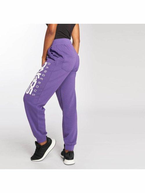 Dangerous DNGRS Jogginghose Soft Dream Leila Ladys Logo violet