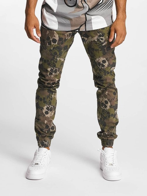 Dangerous DNGRS Slim Fit -farkut Skullcamo camouflage