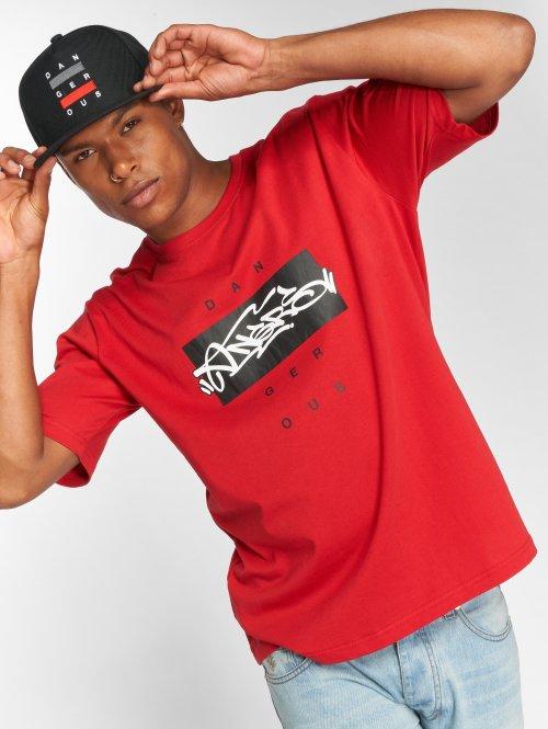 Dangerous DNGRS T-Shirty Topping czerwony