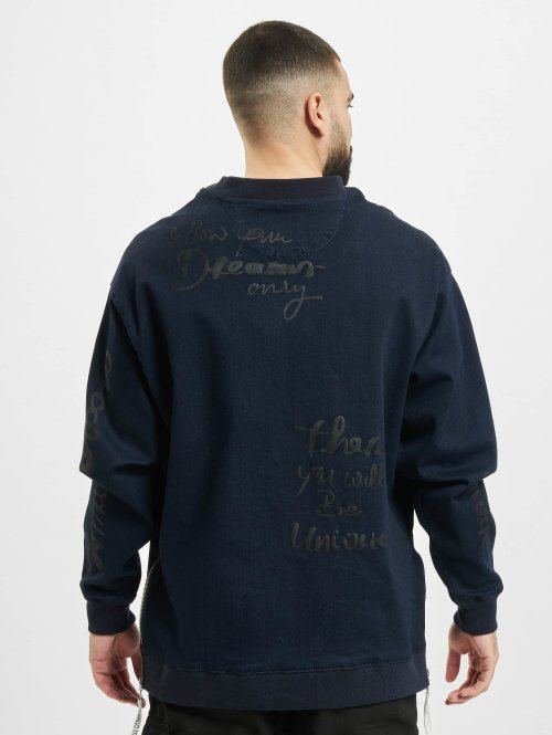 De Ferro Pullover Denim blau