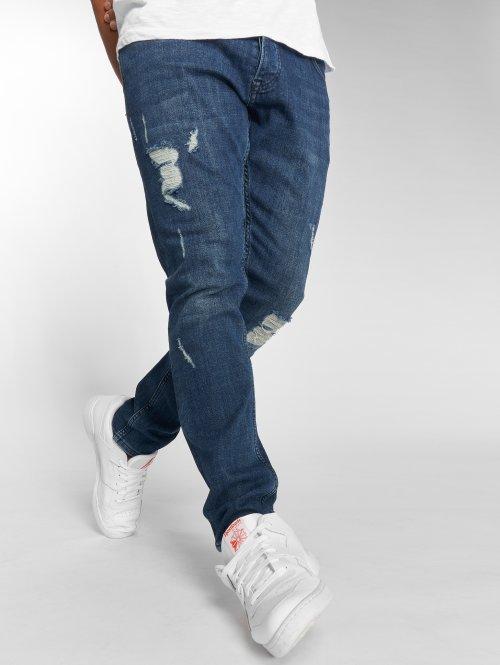 DEF dżinsy przylegające Errol niebieski