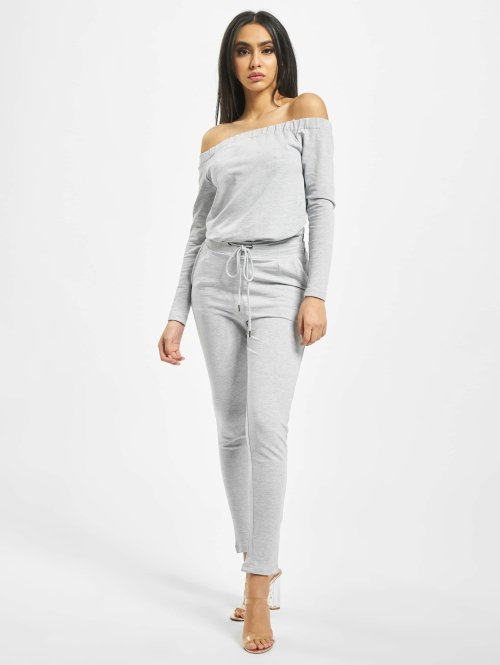 DEF jumpsuit Stretch grijs