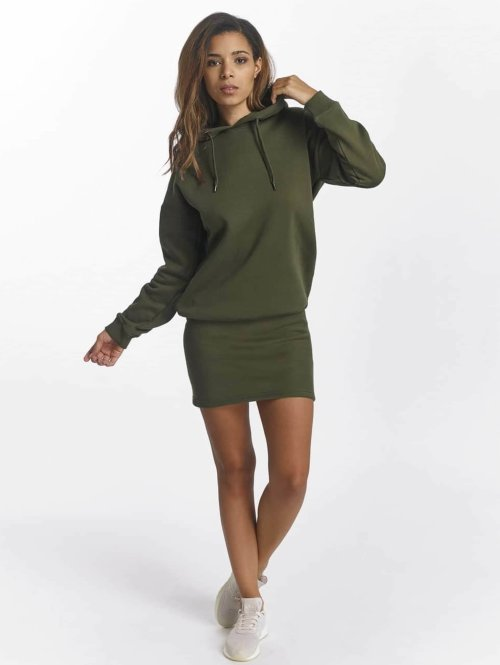 DEF jurk Cropped olijfgroen