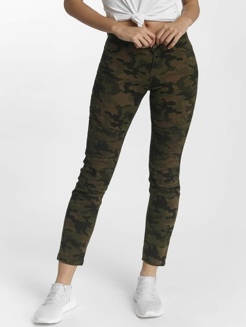 DEF Slim Fit Jeans Ribbed camouflage