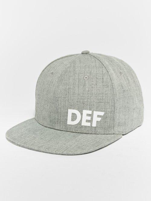 DEF Snapback Cap  Snapback Cap Grey Melang...