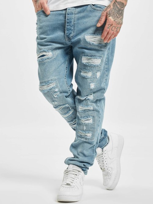 DEF Straight fit jeans Carl blauw