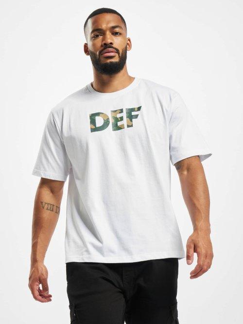 DEF Tričká Signed biela