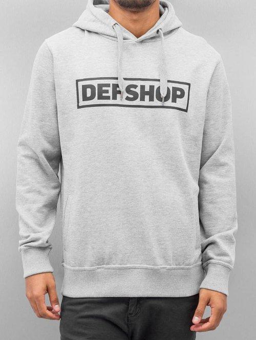 DefShop Sweat capuche Logo gris