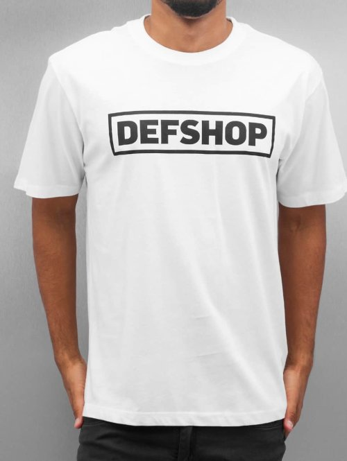 DefShop T-Shirt Logo weiß