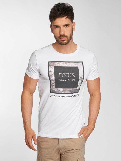 Deus Maximus T-Shirt Fiori weiß