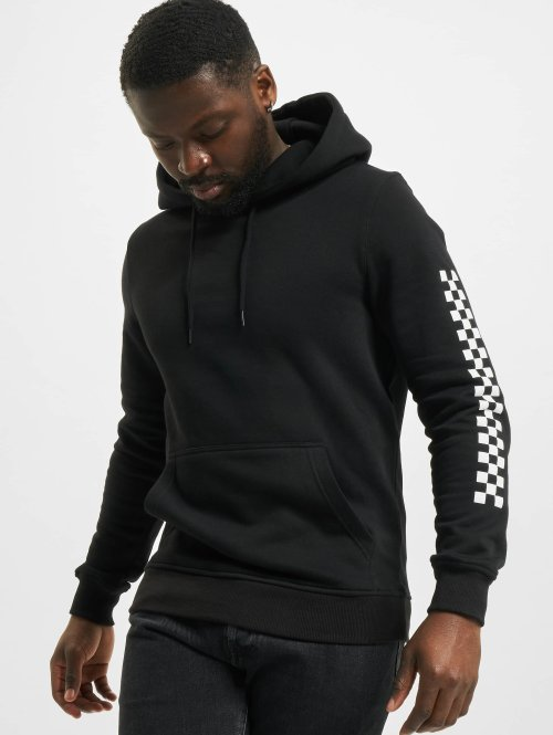 Famous Stars and Straps Hoody Checker Badge schwarz