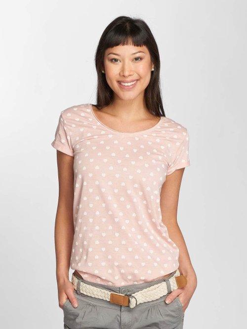 Fresh Made T-Shirt Hearts rosa