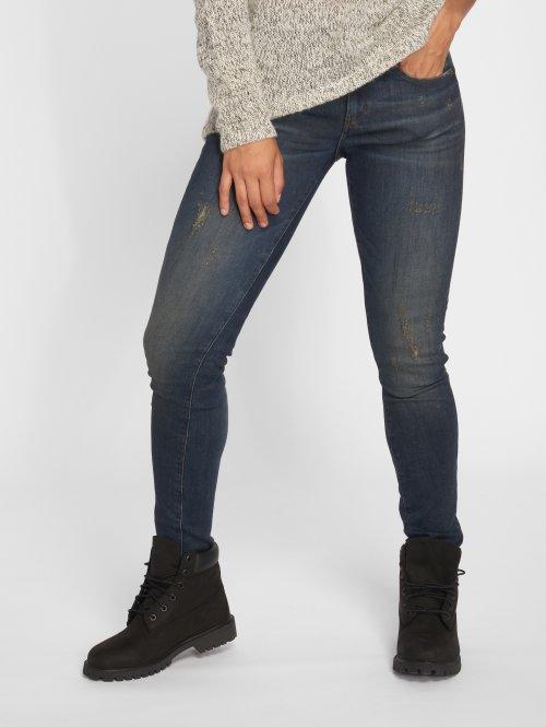 G-Star Skinny Jeans Deconst Mid blau