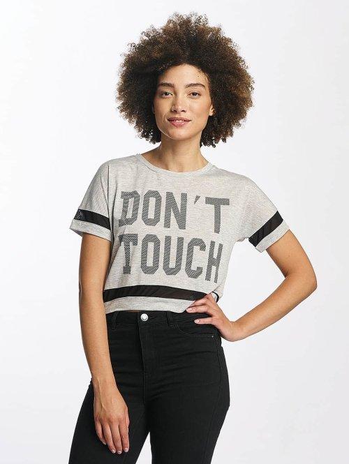 Hailys T-shirts Bonnie Cropped grå
