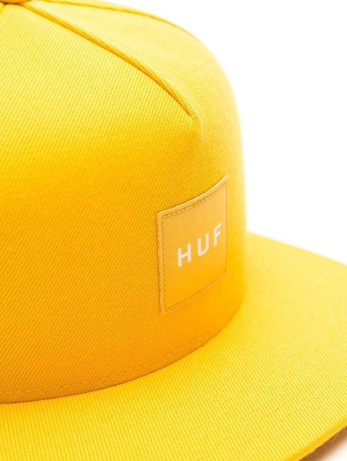 HUF Fitted Cap Box Logo gelb
