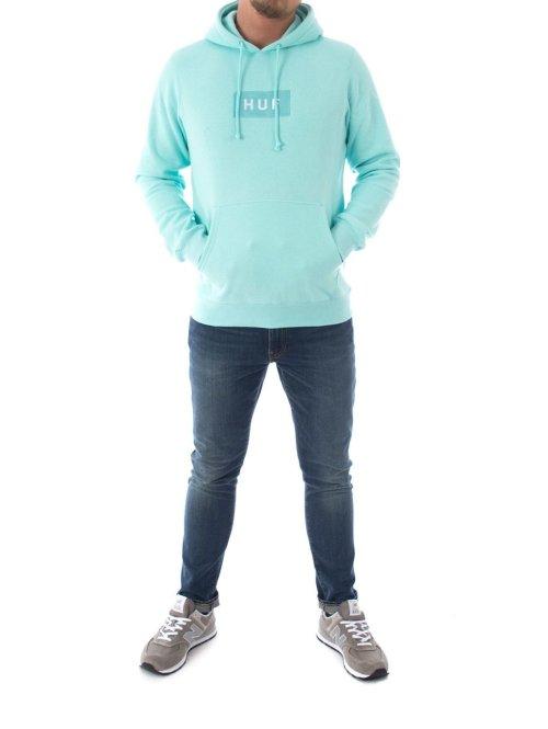 HUF Hoody Bar Logo blau
