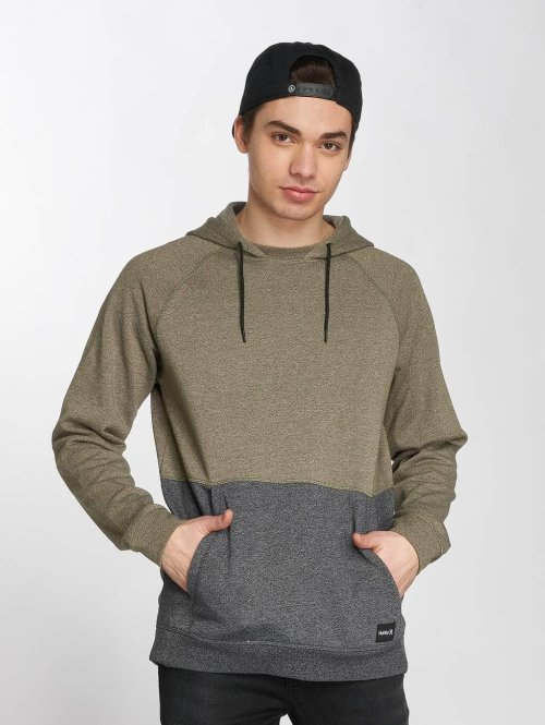 Hurley Sweat capuche  Crone Blocked Hoody Oliv...