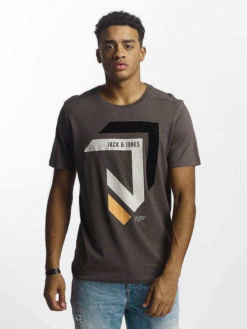 Jack & Jones T-paidat jcoMullet harmaa